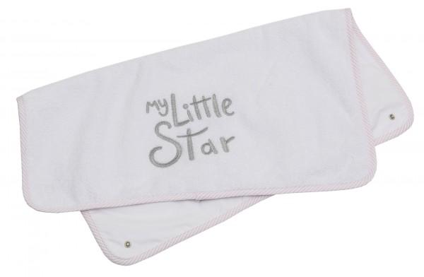 My little Star rosa Ersatz-Frotteeauflage groß, mit Stickerei