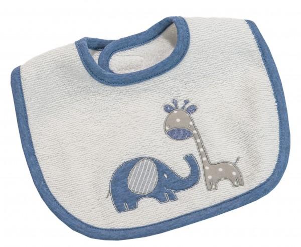 Max & Mila Mini-Lätzchen mit Klett blau