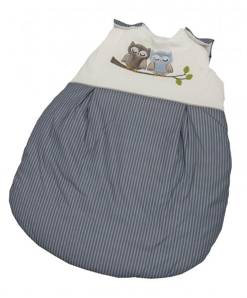 Eulen blau Sommer-Schlafsack 90 cm