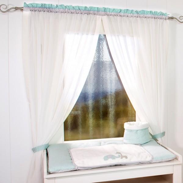Max & Mila Vorhang, 2 Schlaufenschals je 100 x 150 mint