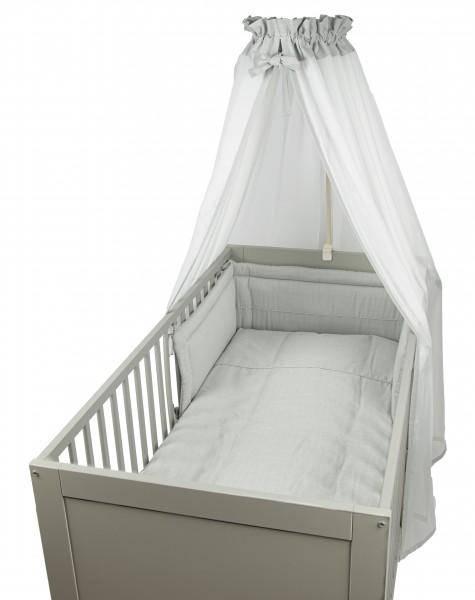 Pünktchen Bett Set - 3 tlg. grau