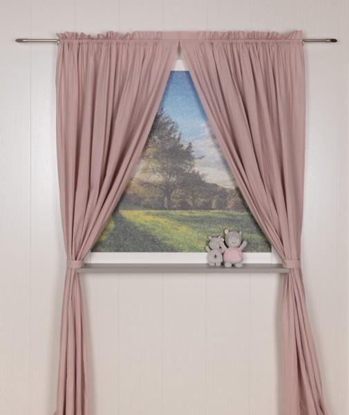 Pünktchen Vorhangschal 2 tlg 100 x 240 cm rosa