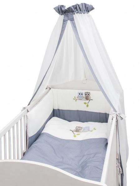 Eulen blau Bett Set - 3 tlg