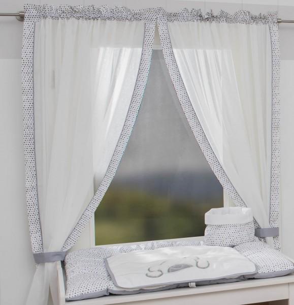 Big Willi grau Vorhang, 2 Schlaufenschals je 100x150