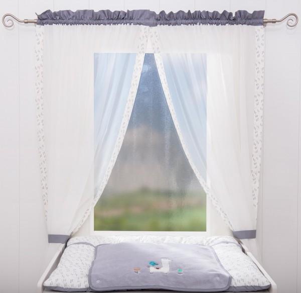 Lama Vorhang, 2 Schlaufenschals je 100 x 150