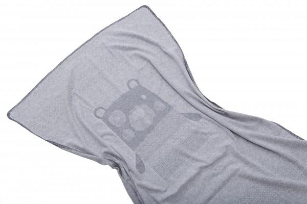 Kuscheldecke Bär grau 70 x 90