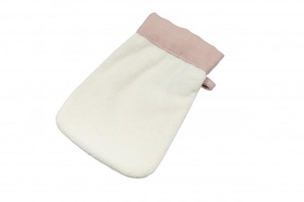 Pünktchen Waschhandschuh rosa