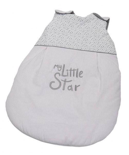 My little Star rosa Winter -Schlafsack 90 cm, wattiert