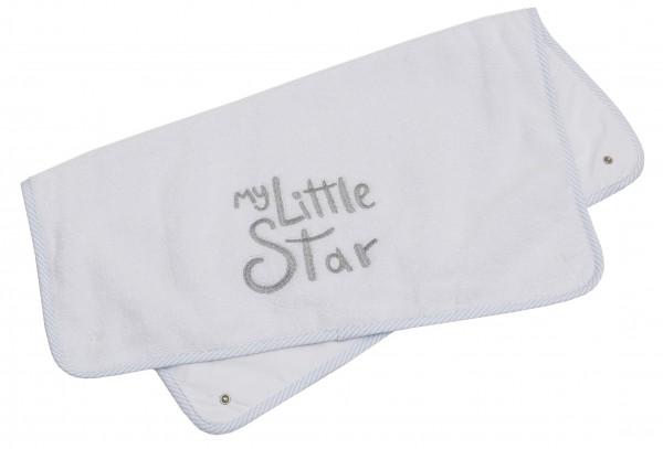 My little Star blau Ersatz-Frotteeauflage groß, mit Stickerei